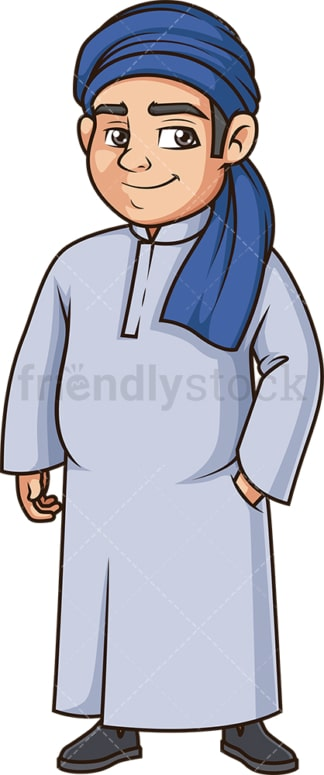 Large muslim man. PNG - JPG and vector EPS (infinitely scalable).