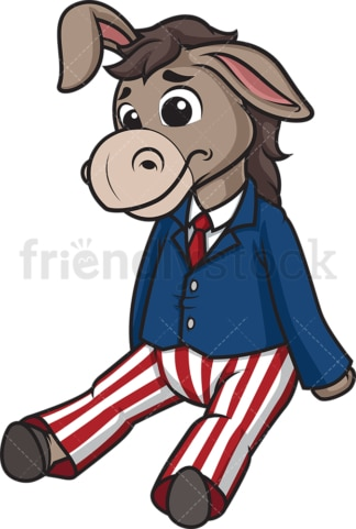 Sad democratic donkey. PNG - JPG and vector EPS (infinitely scalable).