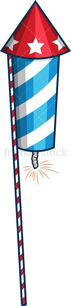 Patriotic firework. PNG - JPG and vector EPS file formats (infinitely scalable). Image isolated on transparent background.