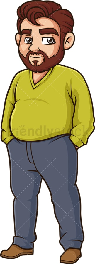 Large middle-aged man. PNG - JPG and vector EPS (infinitely scalable).