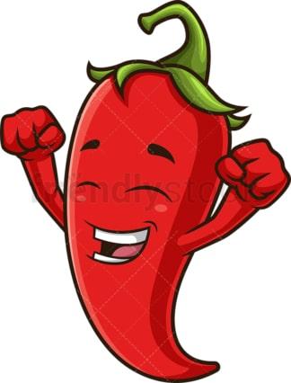 Happy red chili pepper. PNG - JPG and vector EPS (infinitely scalable).