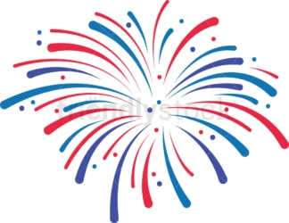 Patriotic fireworks bursting. PNG - JPG and vector EPS file formats (infinitely scalable). Image isolated on transparent background.