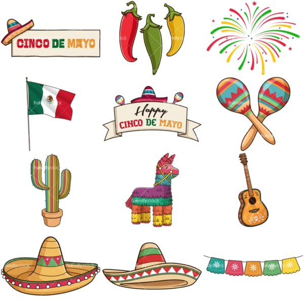 Cinco de mayo. PNG - JPG and vector EPS file formats (infinitely scalable). Images isolated on transparent background.