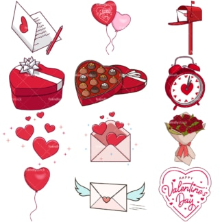 Valentines day. PNG - JPG and vector EPS file formats (infinitely scalable). Images isolated on transparent background.