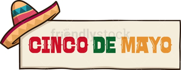 Cinco de mayo lettering. PNG - JPG and vector EPS file formats (infinitely scalable). Image isolated on transparent background.