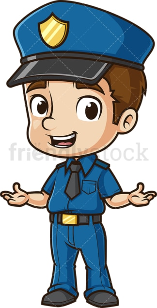 Friendly policeman. PNG - JPG and vector EPS (infinitely scalable).