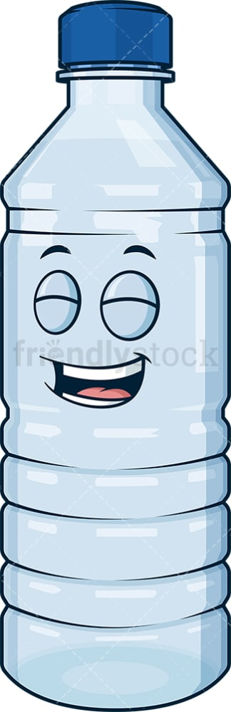 Happy water bottle. PNG - JPG and vector EPS (infinitely scalable).