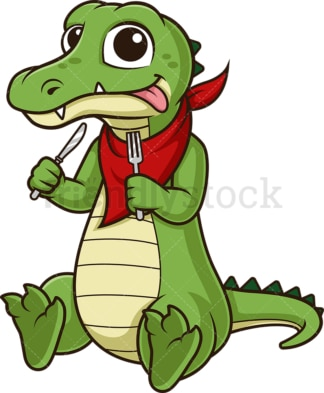 Hungry alligator. PNG - JPG and vector EPS (infinitely scalable).