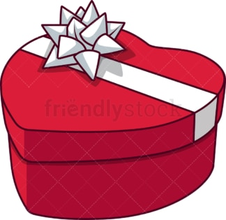 Heart shape gift box. PNG - JPG and vector EPS file formats (infinitely scalable). Image isolated on transparent background.