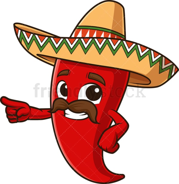 Mexican red pepper presenting. PNG - JPG and vector EPS file formats (infinitely scalable). Image isolated on transparent background.
