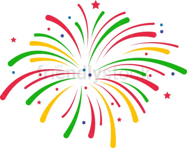 Cinco de mayo fireworks. PNG - JPG and vector EPS file formats (infinitely scalable). Image isolated on transparent background.