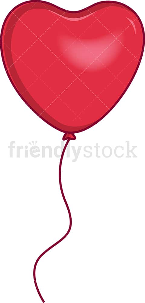 Red heart-shaped balloon. PNG - JPG and vector EPS file formats (infinitely scalable). Image isolated on transparent background.