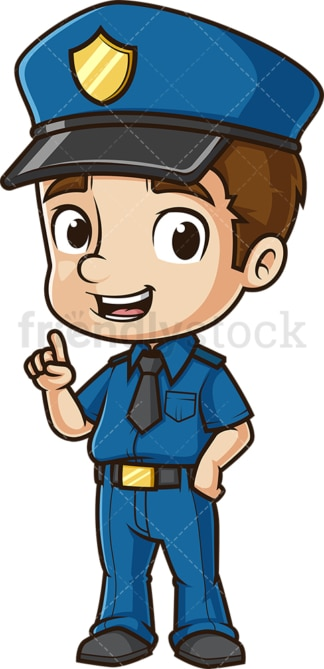 Cartoon policeman talking. PNG - JPG and vector EPS (infinitely scalable).