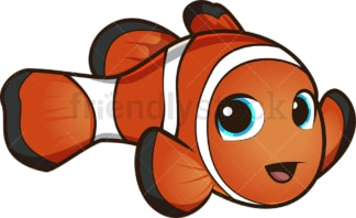 Cute clownfish. PNG - JPG and vector EPS (infinitely scalable).