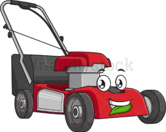 Lawn mower chewing a leaf. PNG - JPG and vector EPS (infinitely scalable).