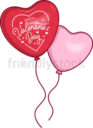 Valentine's day heart balloons. PNG - JPG and vector EPS file formats (infinitely scalable). Image isolated on transparent background.