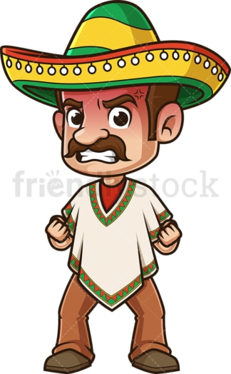 Angry mexican man. PNG - JPG and vector EPS (infinitely scalable).