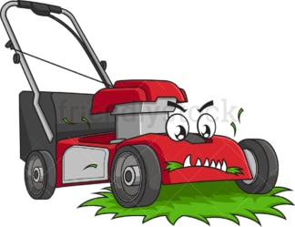 Lawn mower eating grass. PNG - JPG and vector EPS (infinitely scalable).