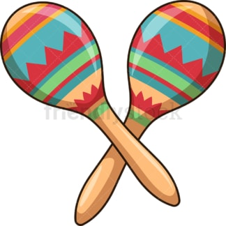 Pair of maracas. PNG - JPG and vector EPS file formats (infinitely scalable). Image isolated on transparent background.