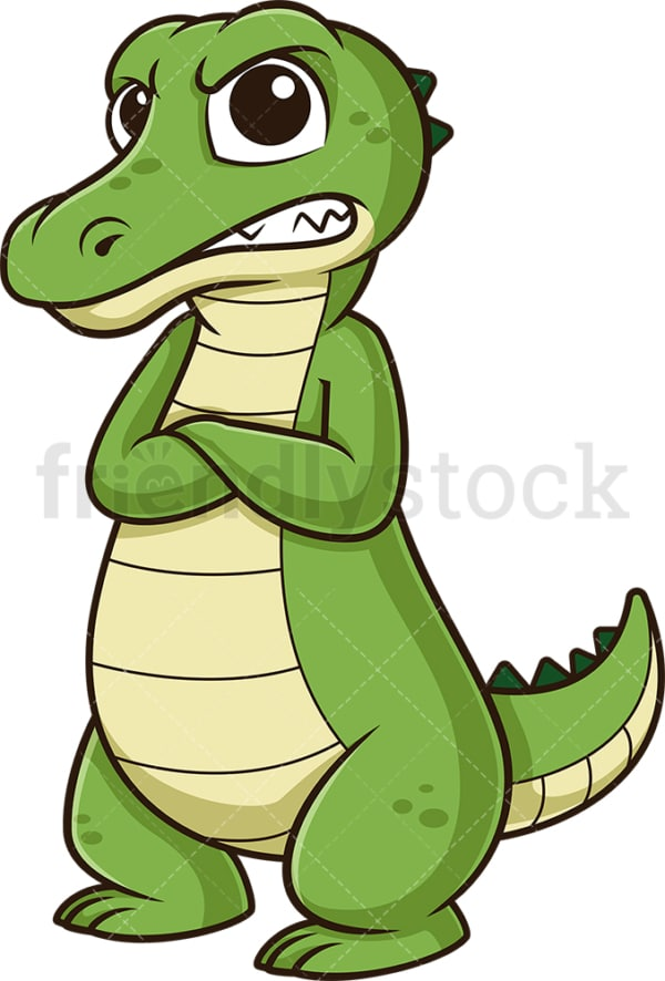 Angry alligator. PNG - JPG and vector EPS (infinitely scalable).