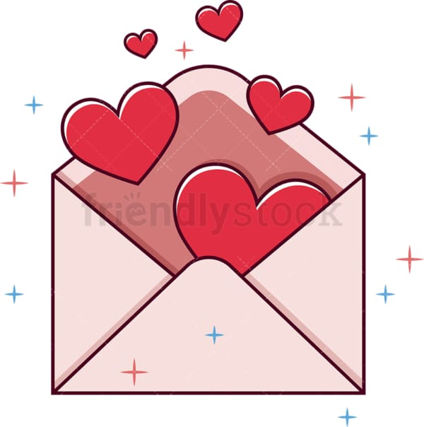 Valentine's day envelope. PNG - JPG and vector EPS file formats (infinitely scalable). Image isolated on transparent background.