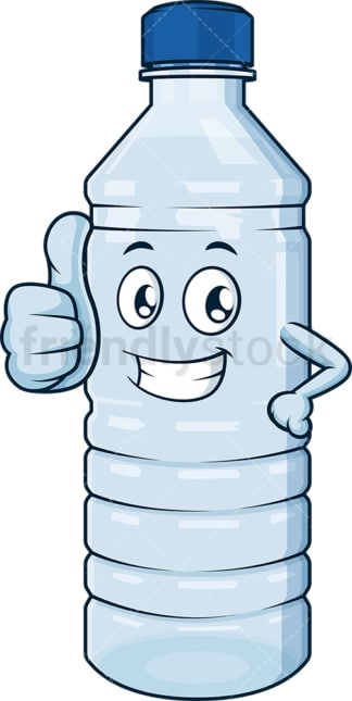 Water bottle thumbs up. PNG - JPG and vector EPS (infinitely scalable).