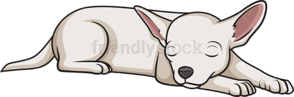 Chihuahua sleeping. PNG - JPG and vector EPS (infinitely scalable).