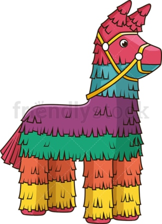 Colorful pinata. PNG - JPG and vector EPS file formats (infinitely scalable). Image isolated on transparent background.