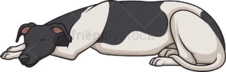 Greyhound sleeping. PNG - JPG and vector EPS (infinitely scalable).