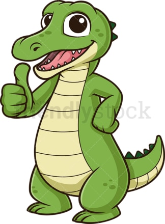Alligator thumbs up. PNG - JPG and vector EPS (infinitely scalable).