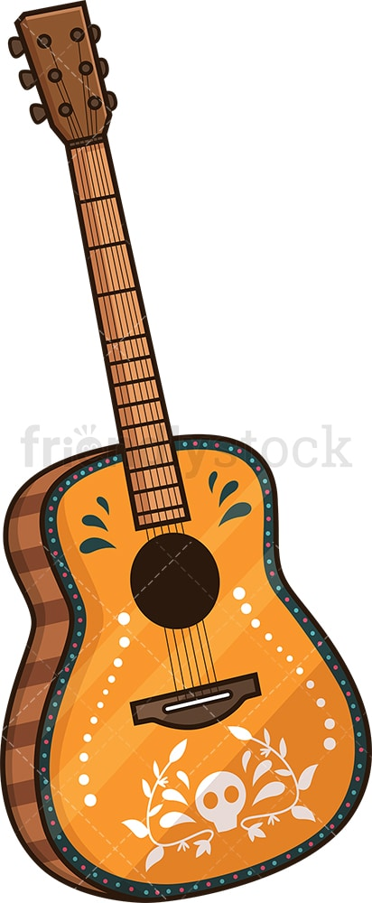 Cinco de mayo mexican guitar. PNG - JPG and vector EPS file formats (infinitely scalable). Image isolated on transparent background.