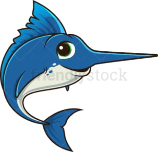Cute swordfish. PNG - JPG and vector EPS (infinitely scalable).