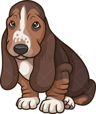 Cute basset hound puppy. PNG - JPG and vector EPS (infinitely scalable).