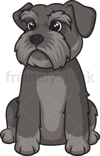 Cute schnauzer puppy. PNG - JPG and vector EPS (infinitely scalable).