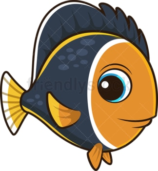 Cute tropical fish. PNG - JPG and vector EPS (infinitely scalable).
