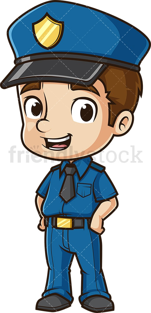 Happy policeman. PNG - JPG and vector EPS (infinitely scalable).