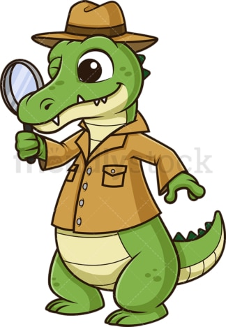 Investigator alligator. PNG - JPG and vector EPS (infinitely scalable).