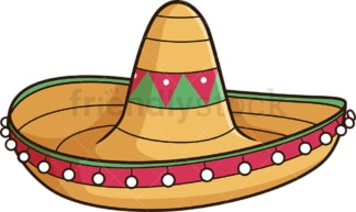 Mexican sombrero. PNG - JPG and vector EPS file formats (infinitely scalable). Image isolated on transparent background.