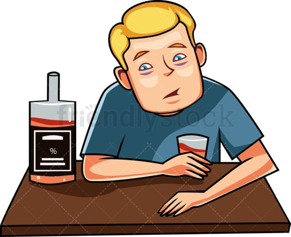 Tipsy man drinking alcohol. PNG - JPG and vector EPS file formats (infinitely scalable). Image isolated on transparent background.