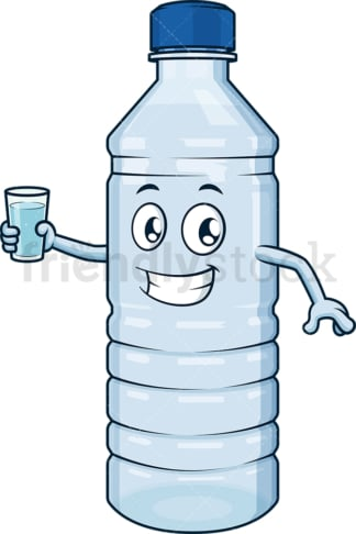 Water bottle holding glass. PNG - JPG and vector EPS (infinitely scalable).