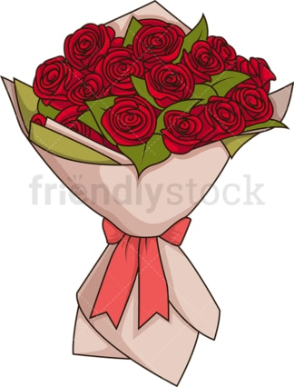 Bouquet of roses. PNG - JPG and vector EPS file formats (infinitely scalable). Image isolated on transparent background.
