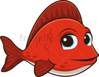 Cute red fish. PNG - JPG and vector EPS (infinitely scalable).