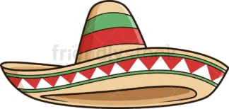 Sombrero hat. PNG - JPG and vector EPS file formats (infinitely scalable). Image isolated on transparent background.