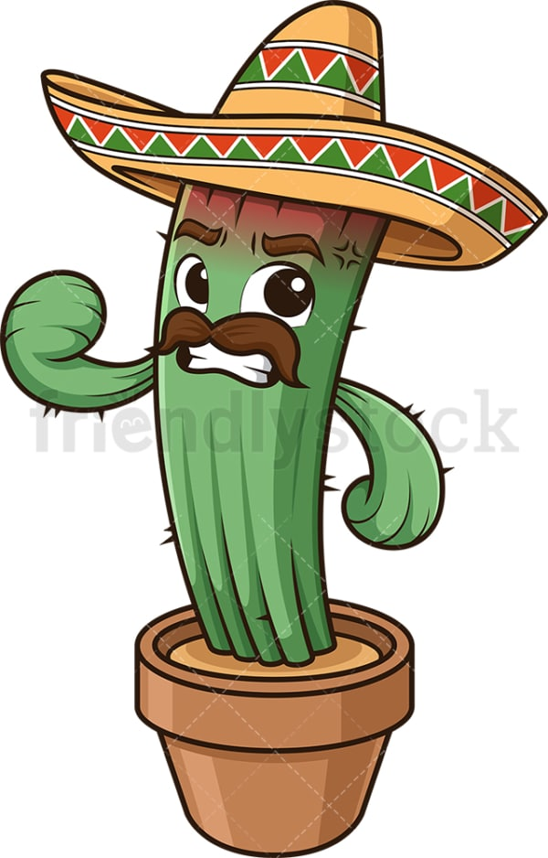 Angry mexican cactus. PNG - JPG and vector EPS (infinitely scalable).