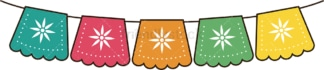 Cinco de mayo decorations. PNG - JPG and vector EPS file formats (infinitely scalable). Image isolated on transparent background.