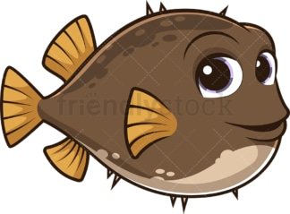 Cute brown fish. PNG - JPG and vector EPS (infinitely scalable).