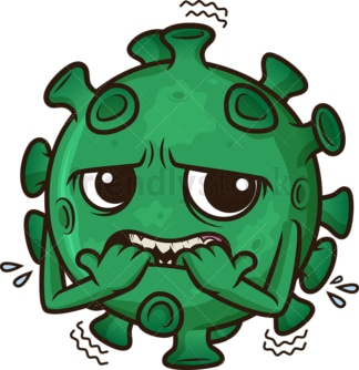 Scared coronavirus. PNG - JPG and vector EPS (infinitely scalable). Image isolated on transparent background.