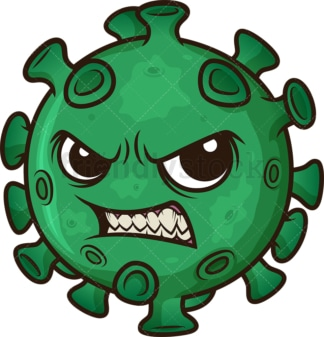 Evil coronavirus. PNG - JPG and vector EPS (infinitely scalable). Image isolated on transparent background.
