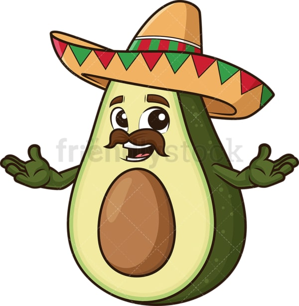 Mexican avocado. PNG - JPG and vector EPS (infinitely scalable).