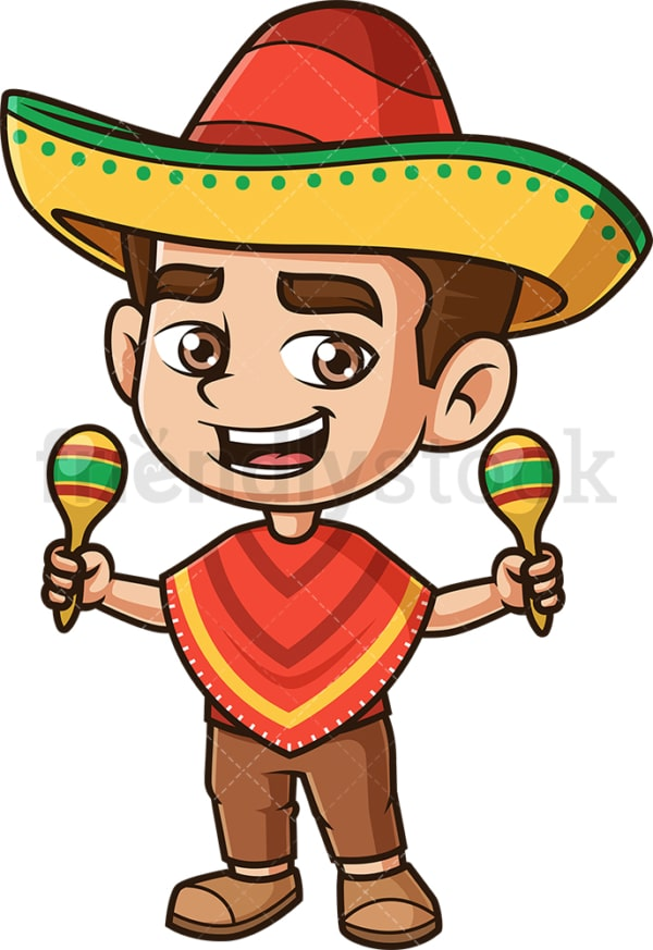 Mexican boy. PNG - JPG and vector EPS (infinitely scalable).